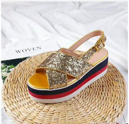 $enCountryForm.capitalKeyWord NZ - velvet embroidery flowers platform wedge heels summer sandals for women thick bottom star decor top quality candy color shoes laides