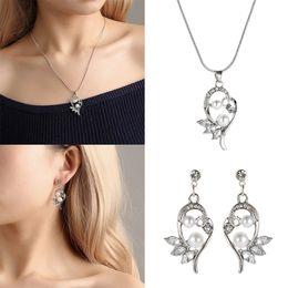 $enCountryForm.capitalKeyWord Australia - Pearl Necklace Earrings Set Hypoallergenic Alloy Earrings Necklace Jewelry for Women Party Wedding KQS8