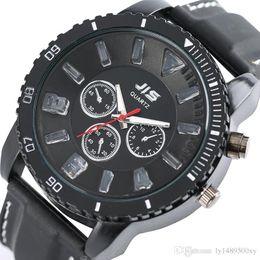 $enCountryForm.capitalKeyWord NZ - JIS Men Watch Top Brand Luxury Sports Male Unique Led Clock Creative Big Size Round Dial Face Man Rubber Band Quartz Analog Wristwatch