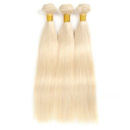 Chinese  Straight 100% Human Hair Weaves Remy Hair Light Blonde Medium and Long hair Natural Color Pure Color manufacturers