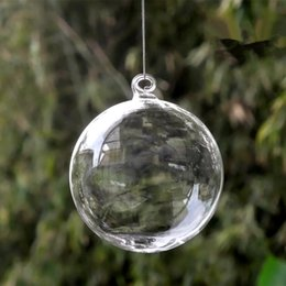 Globe Pack Australia - Diameter=10cm 8pcs pack Christmas Ball Transparent Glass Globe Hotel School Window Wedding Decoration Glass Ball Christmas Day