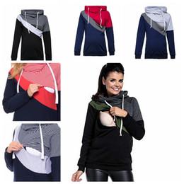 2e73afecccf Women maternity long Winter coats online shopping - Maternity long sleeve  stitching breastfeeding coat fashion cotton