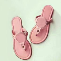 $enCountryForm.capitalKeyWord Australia - 2019 Fashion Brand Matte Genuine Leather Sandals Outdoor Beach Flip Flop Flat Heel Slippers Casual Loafers Lady Women Shoes Sz 35-41