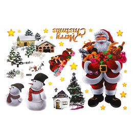 $enCountryForm.capitalKeyWord NZ - home decor Christmas Wall Sticker Removable DIY Shop Window Stickers New Christmas Decorations for Home Natal New Year Decoration