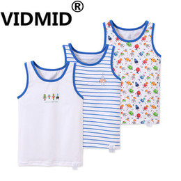 Boys Sleeveless Vest Australia - Vidmid Sleeveless T-shirts Children Summer Kids Baby Boys Tops Boy's Clothes Cotton Tanks Vests Tee 7010 73 J190529