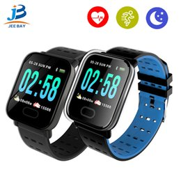 water resistant smart watches Australia - A6 Fitness Tracker Wristband Smart Watch Color Touch Screen Water Resistant Smartwatch Phone with Heart Rate Monitor pk id115
