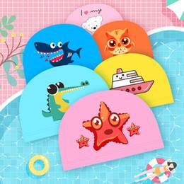 $enCountryForm.capitalKeyWord Australia - Kids swimming caps Cartoon Swimming Caps Baby Boys&Girls Swim Hats Bathing for Children
