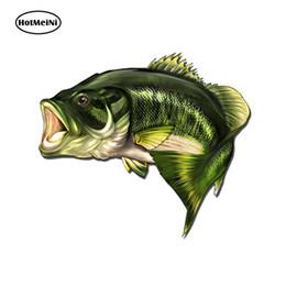 $enCountryForm.capitalKeyWord Australia - HotMeiNi 13cm x 10.8cm Car Styling Large Mouth Bass Fish Fishing Stickers Boat Kayak Decals Car Truck Laptop window Sticker