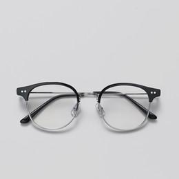 d95f6f2f85 2019 Classic Alio Rivet light Half Frames Eyeglasses Vintage Retro Frame  Men women Clear Spectacle Frame Eyewear oculos de grau