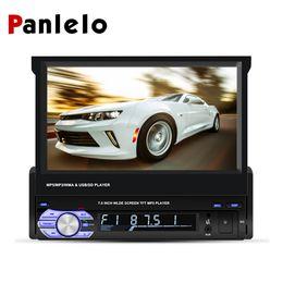 Großhandel Panlelo T2 1 Din Android Autoradio 7 Zoll 1 GB + 16 GB Quad Core 1080HD Audio-Player Touchscreen GPS-Navigationsradio