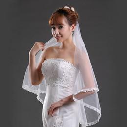04dc113454 11034 - Marfil barato nupcial tul velos sin peine de encaje apliques 1 capa  hermoso velo para la novia de la boda 1.5 m longitud accesorios de  compromiso