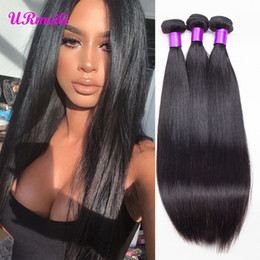 dhgate virgin brazilian hair NZ - 9A Brazilian Straight Virgin Human Hair Bundles 100% Human Hair Extension DHgate Natural Color 3 4 Bundles Straight Remy Hair Weaves tissage