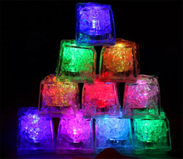 $enCountryForm.capitalKeyWord Australia - LED Gadget Square Color Changing LED ice cubes Glowing Ice Cubes Blinking Flashing Novelty Party
