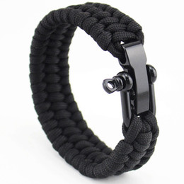 $enCountryForm.capitalKeyWord NZ - New Arrival Mens Stainless Steel Anchor Shackles Black Leather Bracelet Surf Nautical Sailor Men Wristband Fashion Jewelry