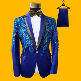 $enCountryForm.capitalKeyWord Australia - Shinny Sequin Stage Outfits Men Ceremonies Stage Host Performance Single Chorus Show Man's Suit Wedding Party Mens Outfit 5xl