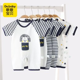 baby jumpsuit wholesale NZ - 3pcs lot Striped Summer Thin Short Sleeved Baby Jumpsuit Clothes Baby Rompers Newborn Baby Boys Romper Toddler Girl Jumpsuits J190524