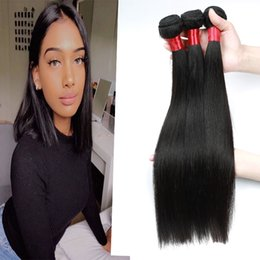 $enCountryForm.capitalKeyWord Australia - Straight Human Hair Extensions 3 bundles or 4 Bundles Brazilian 100% Virgin Human Hair Weaves Natural Color 8-28 inches