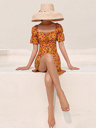 Wholesale swim cover ups online – One Piece Bikini Swimsuit Push Up Swimsuits Fused Woman s Girl French Short Long Sleeve Swimming Covering Fairy Fanins Animal