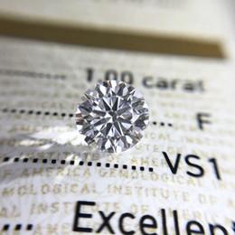 Großhandel Lockere Moissanite 1.0ct Carat 6,5 mm D Farbe Runde Brillantschliff VVS1 Ring Armband Schmuck DIY Material Lab Diamant