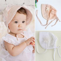 cotton baby girl bonnets NZ - Girl Sweet Princess Hollow Out Baby Hat Lace Floral Beanie Cotton Bonnet Infant Kid Flower Caps for 0-12M