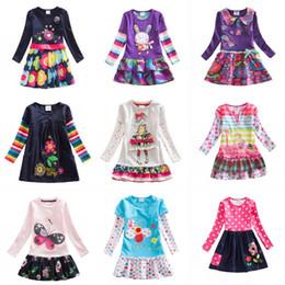 $enCountryForm.capitalKeyWord NZ - Kids Rainbow Long Sleeve Dress Kids Flower Butterfly Cotton Spring Autumn Princess Dress Child Embroidered Cupcake Dress