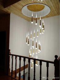 $enCountryForm.capitalKeyWord Australia - Meteor Shower Luxury Long Drop Light Modern Ceiling Suspended Spiral Pendant Lamp For Staircase Home Lighting Fixture