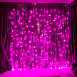 wall curtains UK - 3x3m led icicle Window Curtain String Lights 300 LED Christmas lights for Wedding Party Home Garden Bedroom Wall Decorations EU US UK AU