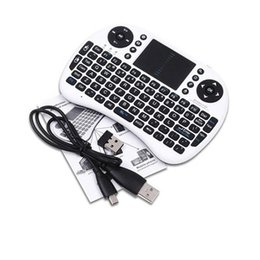 bluetooth keyboard mouse rii mini NZ - Rii i8 Remote Fly Air Mouse mini Keyboard Wireless 2.4G Touchpad Keypad For MXQ MXIII MX3 M8 CS918 M8S Bluetooth TV BOX Black 10pcs