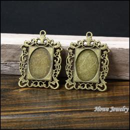 $enCountryForm.capitalKeyWord UK - ashion Jewelry Charms Wholesale 11 pcs Vintage Charms Oval picture frame Pendant Antique bronze Fit Bracelets Necklace DIY Metal Jewelry ...