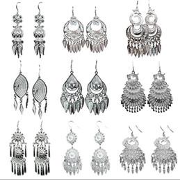 Female Indian Costumes Australia - New ethnic style temperament earrings handmade seedlings silver 925 earrings retro wild Miao costume female earrings jewelry
