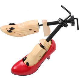 Woods Shoes Australia - Men Women Wood Shoe Rack European Style Retro Adjustable Unisex Shoe Stretcher Storage Enlarged Shaped Shoe Display Rack