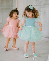 $enCountryForm.capitalKeyWord Australia - Pink Tulle Princess Flower Girls Dresses For Wedding Kids First Holy Communion Dresses Baby Girl First Birthday Dresses