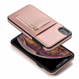 Iphone vertIcal pouch online shopping - Wallet Leather Card Pocket For Iphone XS MAX XR X S SE S Flip Vertical Zipper Coin Money ID Card Slot Box Phone Back Case Cover Skin