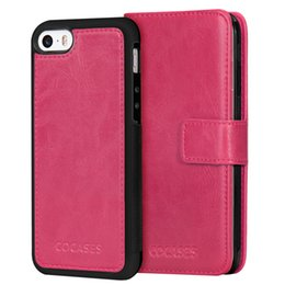 block wallet Australia - RFID Blocking 2 in 1 Detachable Cellphone Cover For iPhone Phone Case PU Wallet Cases with Card Slot Leather Case Covers wrist strap