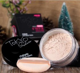 natural mineral make up Canada - New NOVO Brand 4 color matte mineral loose powder skin friendly moisturizing waterproof long-lasting oil-control sun block Make Up Cosmetics