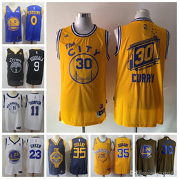 947c773743a1 2019 cheap men Golden Jersey steph Durants Stephen States Currys Warriors  Thompson top quality 100% stitched ball Jersey