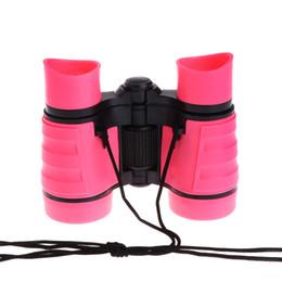 4x30 Crianças Binóculos Telescópio Para Crianças Jogos Ao Ar Livre Brinquedos de Plástico Compacto NovoFree shippingFree shipping