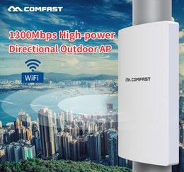 Comfast 1300 Mbit / s Dual-Band 5 GHz Hochleistungs-AP im Freien Gigabit Wan / LAN RJ45-Richtantennen-Zugangspunkt Wifi-Basisstation AP