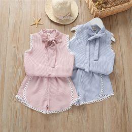 $enCountryForm.capitalKeyWord Australia - Girl clothes sets Kids Clothing Sets For Girl Summer Shirt & Skirt 2pcs Children's Outfits wholesale kids clothing sets