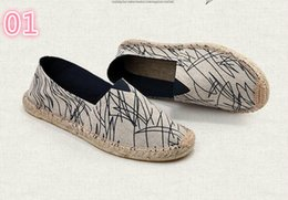 Spring Fall Canvas Shoes Australia - Wholesale straw hemp bottom shoes spring summer new lovers breathable canvas shoes lazy fisherman hemp rope shoes 3A 007