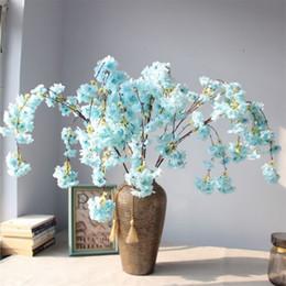 "$enCountryForm.capitalKeyWord Australia - Fake Long Stem Cherry Blossoms (4 stems piece) 51.18"" Length Simulation Cherry Chlorophytum for Wedding Home Decorative Artificial Flowers"