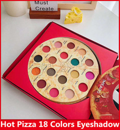 Brush Eye Shadow Palette Australia - PIZZA IMEAGO 18 colors Eye shadow palette 18 Delicious toppings Matte shimmer Containing brushes bronzers Palette Blush DHL free shiping
