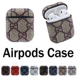 Airpods capa protetora para airpods 1 2 pu leather bluetooth fone de ouvido airpods case capa luxo pu leather case 10 pçs / lote frete grátis dhl venda por atacado