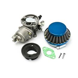dirt bike carburetor Australia - Carburetor Air Filter Assembly Blue For 43cc 47cc 49cc Mini Moto ATV Dirt for Pocket Bike Metal and Plastic