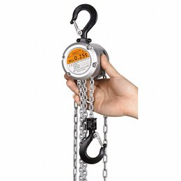 hand levers UK - KACC Mini Hand Chain Hoist Hook Mount 0.25 0.5 Ton Capacity 3M Lift CE Certificate Portable Manual Lever Block Lifting Wt98#