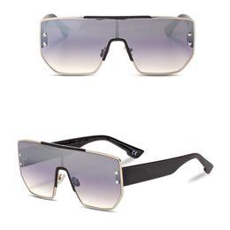 994bc242e New Designer Women Goggles One Pieces Metal Frame Sunglasses Mercury Lenses  Retro Men And Women Sun Glasses UV400