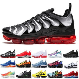 $enCountryForm.capitalKeyWord Australia - New Classic Tn Plus Running Shoes Men Women Game Royal Rainbow Bleached Aqua Triple White Black Fades Blue Volt Trainer Designer Sneakers