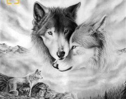 Green Money Box Australia - 40x50cm Animals wolf painting by numbers modular paintings on canvas for painting on the wall home decoration posters and prints