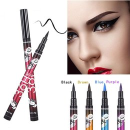 long wear eyeliner Canada - INS HOT Makeup Eyeliner Pen 36H Long Lasting Not Blooming YANQINA 4 Color Liquid Eyeliner Party Female Eye Cosmetics Makeup Tool A0501