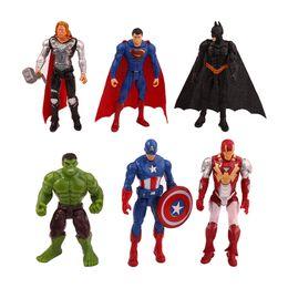 Man War Model Australia - 6pcs set Marvel Avengers Infinity War Spiderman Iron Man Superhero American Captain Thor Action Figure Toy Boy Kid Collection Q190604